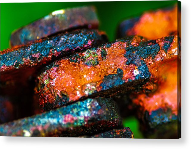 Abstract Acrylic Print featuring the photograph Coupling by Gene Hilton