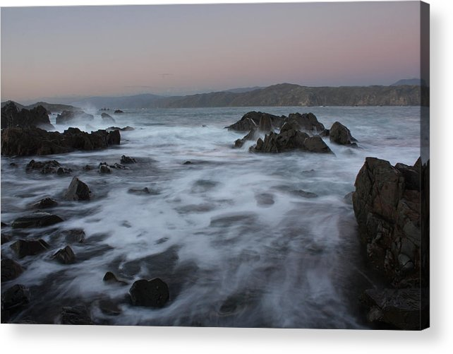 Coastal Wall Art Acrylic Print featuring the photograph Rock Flow by Paul Maples