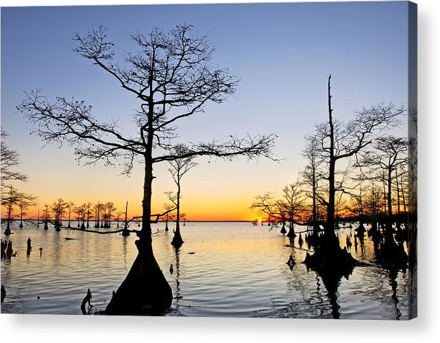 Mattamuskeet Acrylic Print featuring the photograph Sunset On Lake Mattamuskeet by Rob Travis