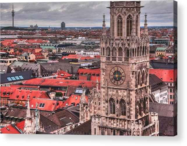 Glockenspiel Acrylic Print featuring the photograph Time For Munich by Anthony Citro