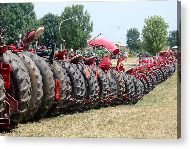 Tractor Acrylic Print featuring the photograph Tractor Tires by Laurel Gillespie