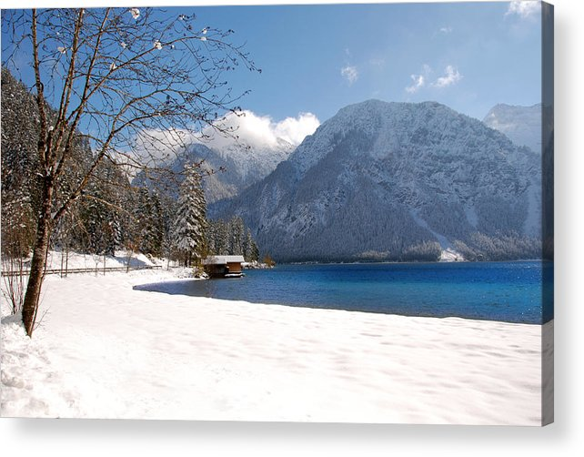 A Peaceful Winter Lake Acrylic Print featuring the photograph Winter Lake by Anthony Citro