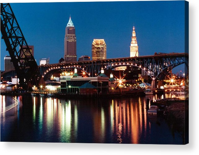 Cleveland Acrylic Print featuring the photograph 070506-78 by Mike Davis
