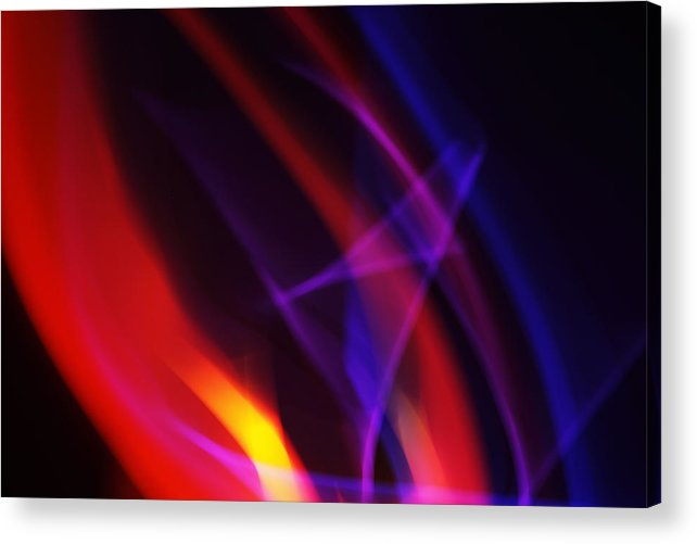 Abstract Acrylic Print featuring the photograph Painting With Light 6 by Chris Rodenberg