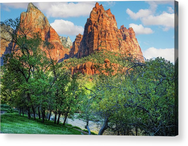 Zion National Park Acrylic Print featuring the photograph Zion National Park by Douglas Pulsipher