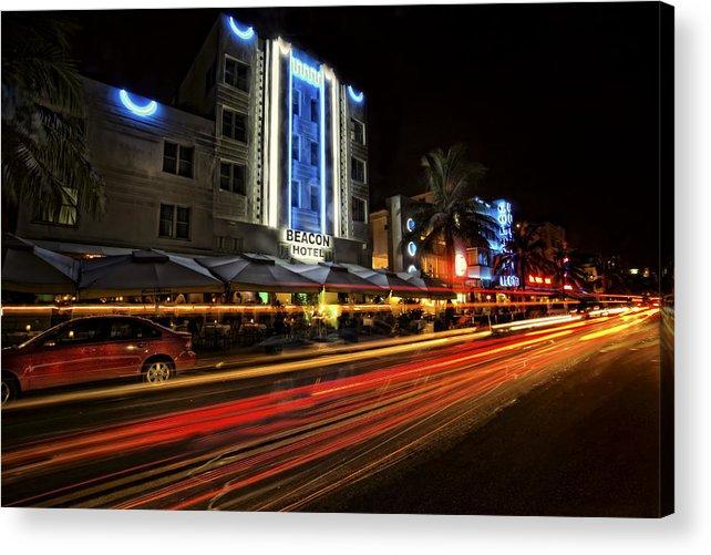 South Beach Acrylic Print featuring the photograph Beach Drive South Beach by Jim Dohms