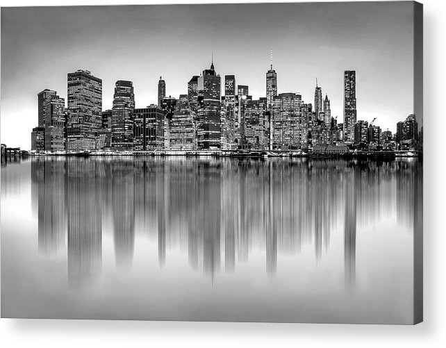 One World Trade Center Acrylic Print featuring the photograph Big City Reflections by Az Jackson