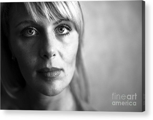 Portrait Acrylic Print featuring the photograph Black And White by Vadim Grabbe