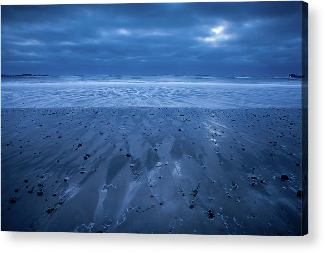 Beach Acrylic Print featuring the photograph Blue Sunrise by Susan Cole Kelly