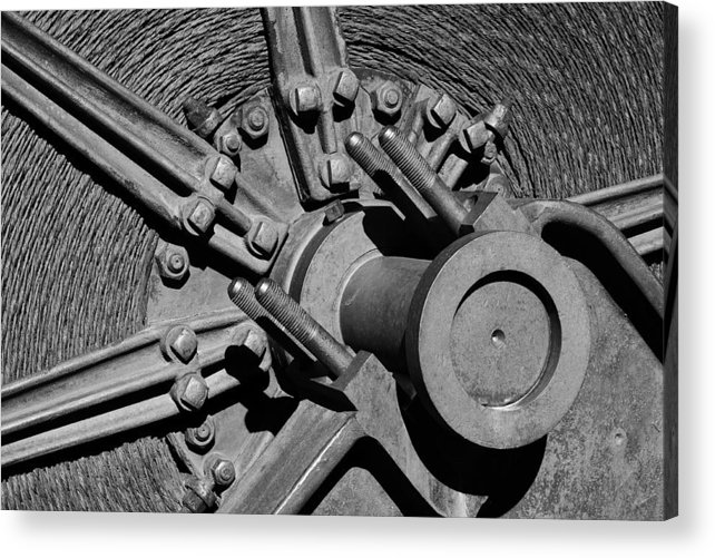 Mining Acrylic Print featuring the photograph Bodie Mining Equipment by Troy Montemayor