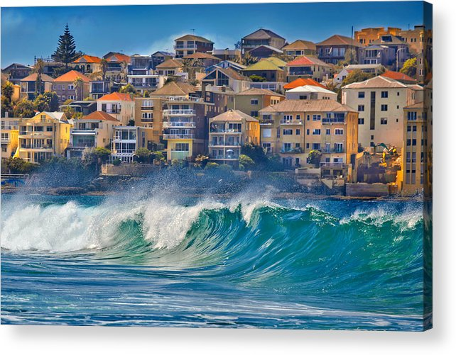 Sydney Acrylic Print featuring the photograph Bondi Waves by Az Jackson