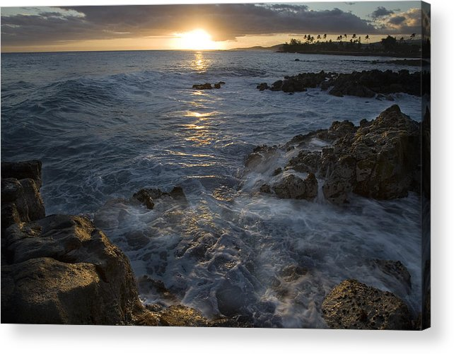 Brenneke Acrylic Print featuring the photograph Brenneke Sunset by Nick Galante