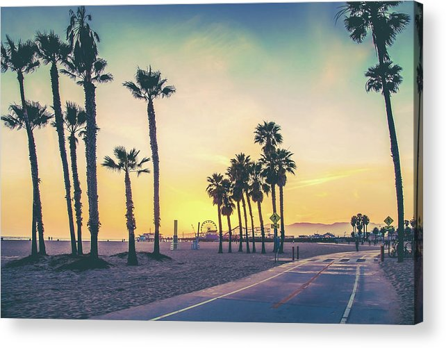 Venice Beach Acrylic Print featuring the photograph Cali Sunset by Az Jackson