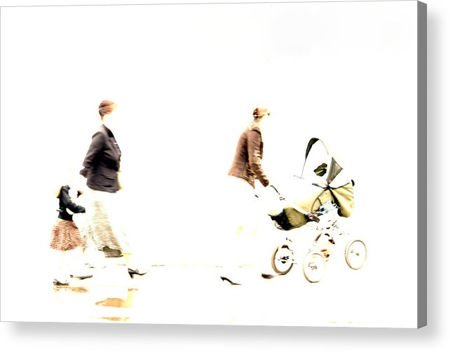 Photo Acrylic Print featuring the photograph Cheerful Family by Vadim Grabbe