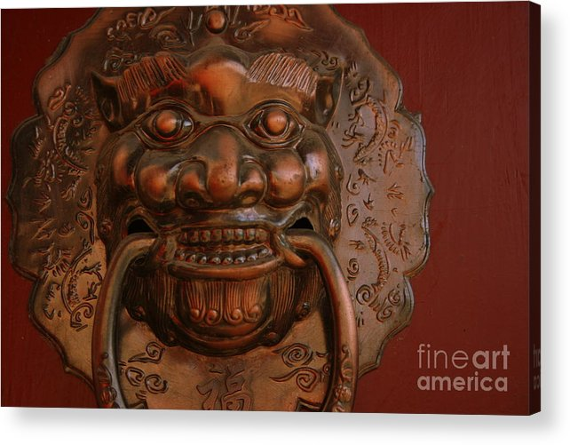 Acrylic Print featuring the photograph Doorknocker 01 by April Holgate