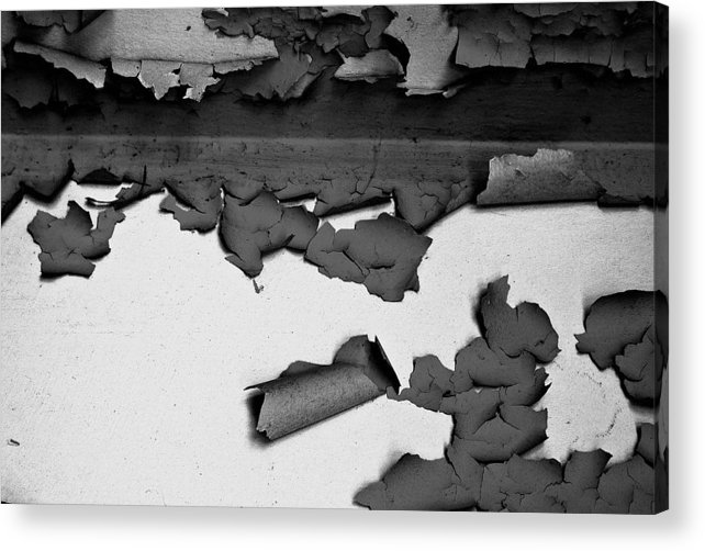 Black-and-white Acrylic Print featuring the photograph Everything That Remains by Vadim Grabbe