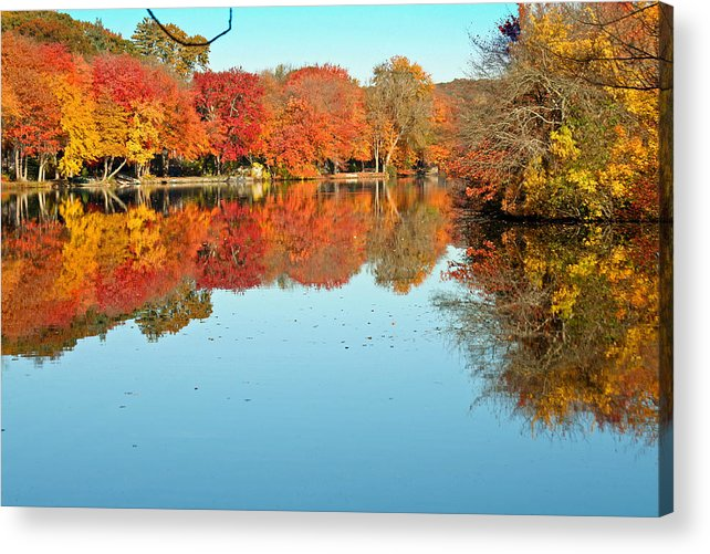 Landscape Acrylic Print featuring the photograph Fall Morning In East Lyme 1 by Gerald Mitchell