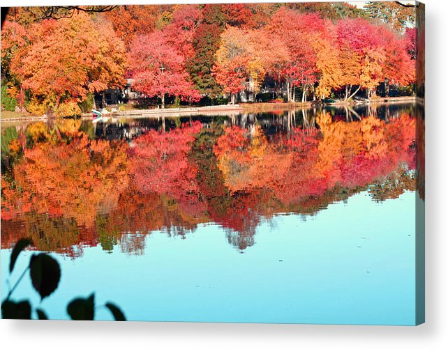 Landscape Acrylic Print featuring the photograph Fall Morning In East Lyme 2 by Gerald Mitchell