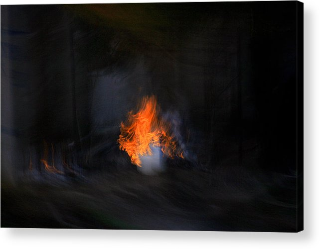 Desert Acrylic Print featuring the photograph Fire In Desert by Robert Shahbazi