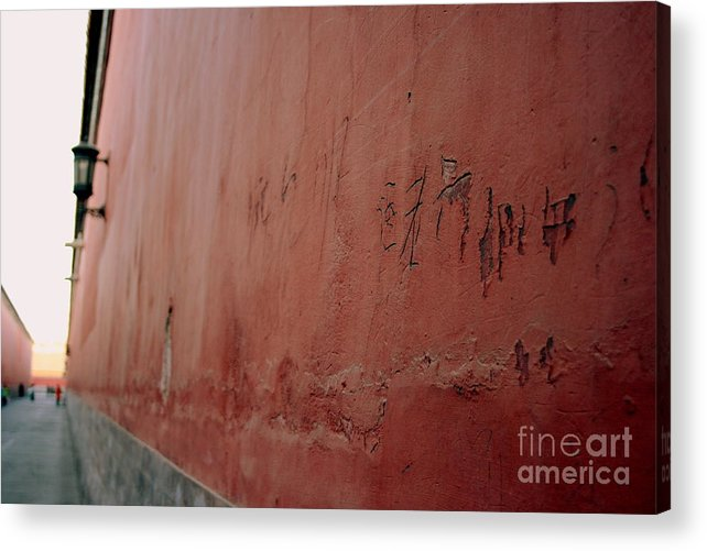 Graffiti Acrylic Print featuring the photograph Forbidden Graffiti by April Holgate