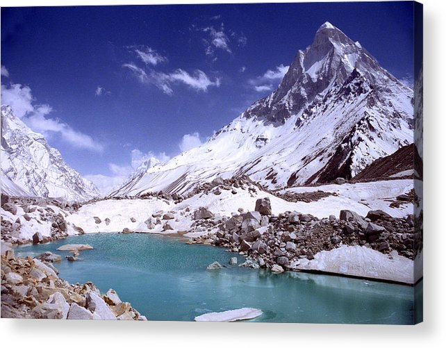 Landscape Acrylic Print featuring the photograph Gandharva Tal And Mount Shivaling by Sam Oppenheim