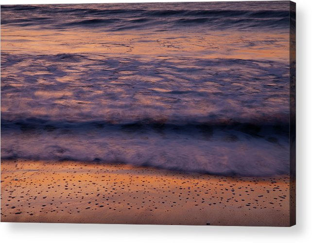 Beach Acrylic Print featuring the photograph Golden Bubbles by Susan Cole Kelly