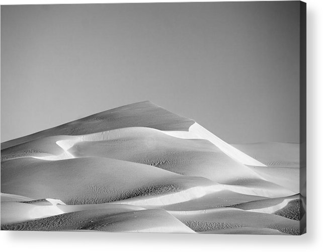 Black & White Acrylic Print featuring the photograph Gordon Wells Dunes by Peter Tellone