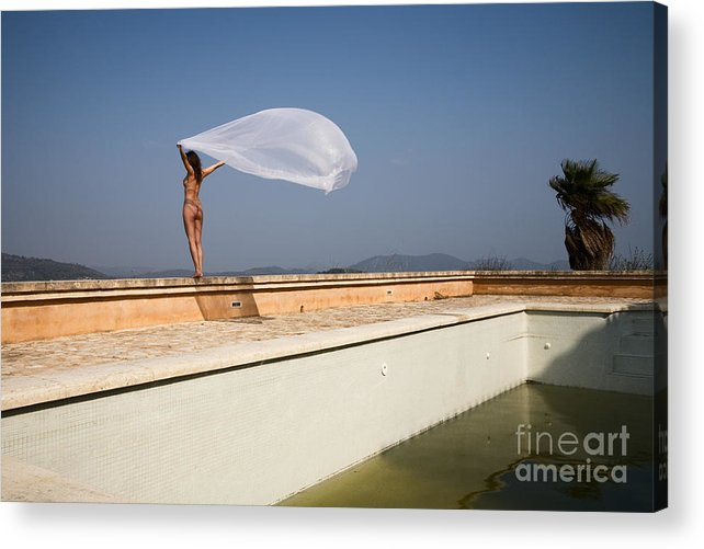 Sensual Acrylic Print featuring the photograph I Will Fly To You by Olivier De Rycke