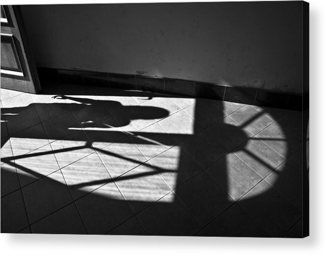 Shadow Acrylic Print featuring the photograph It Leaves... Do Not Hold It... by Vadim Grabbe