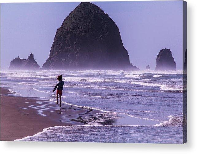 Seascape Acrylic Print featuring the photograph Joy by Linda Nicol