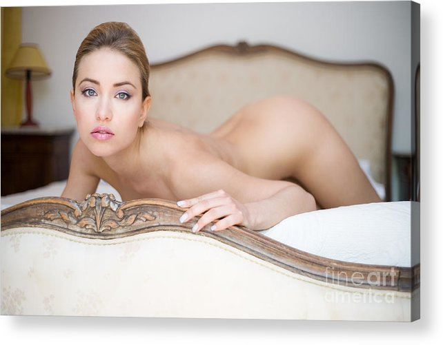 Sensual Acrylic Print featuring the photograph Like A Princess by Olivier De Rycke
