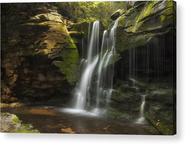 Waterfall Acrylic Print featuring the photograph Lust by Fred Wolfe