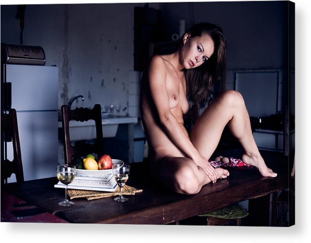 Sensual Acrylic Print featuring the photograph Maybe Or Maybe Not by Olivier De Rycke
