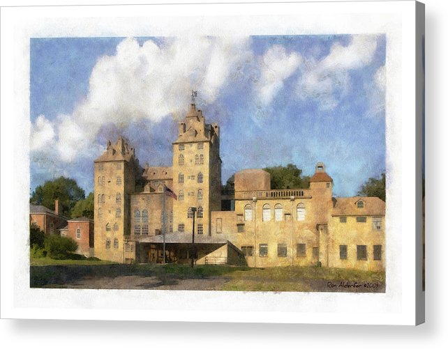Digital Acrylic Print featuring the photograph Mercer Museum by Ron Alderfer