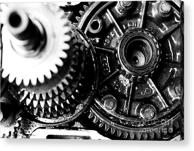 Gear Wheel Acrylic Print featuring the photograph Merry-go-round by Vadim Grabbe