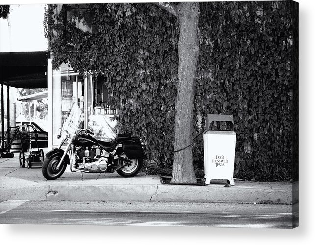 Motorcycle Acrylic Print featuring the photograph Motorcycle In Big Spring Tx by Troy Montemayor