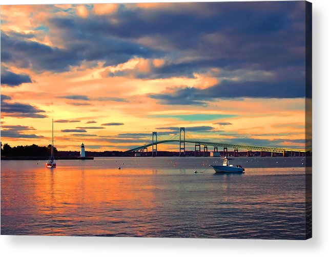 Newport Acrylic Print featuring the photograph Newport Gold by Joann Vitali