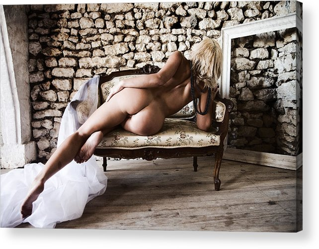 Sensual Acrylic Print featuring the photograph Old Room by Olivier De Rycke