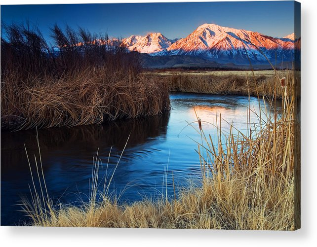 Eastern Sierra Acrylic Print featuring the photograph Owens River Sunrise by Nolan Nitschke