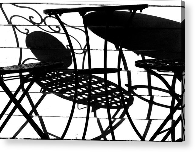 Patio Acrylic Print featuring the photograph Patio Shadows 1 by Thomas Morgan