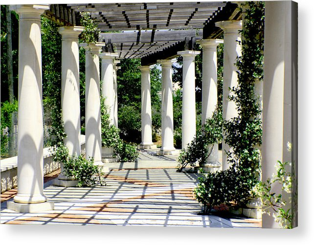 Pergola Acrylic Print featuring the photograph Pillars by Greg Sharpe