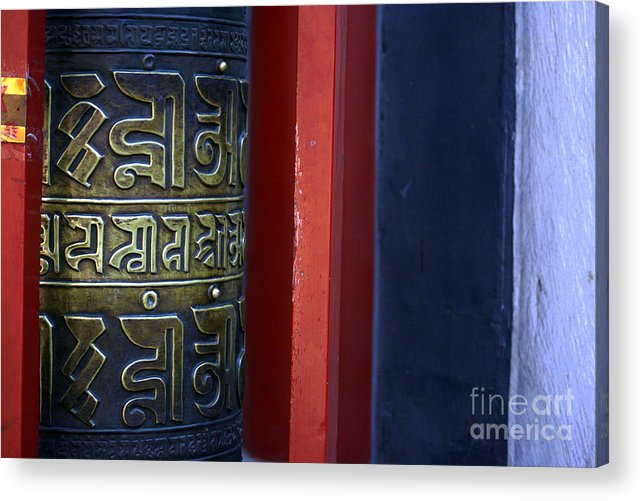 Prayer Acrylic Print featuring the photograph Prayer Wheel At The Lama Temple by April Holgate