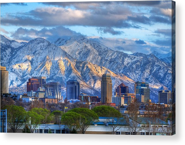 Salt Acrylic Print featuring the photograph Salt Lake City Utah Usa by Utah Images