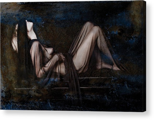 Female Nude Acrylic Print featuring the photograph Silence by Andrew Giovinazzo