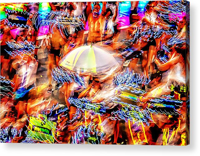 Abstract Photography Acrylic Print featuring the photograph Prance Party by Az Jackson