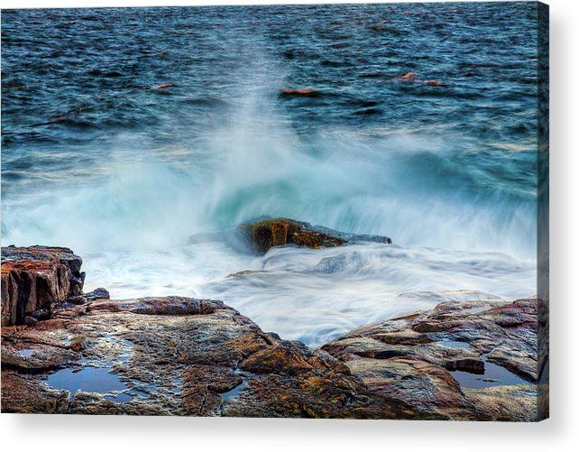 Acadia National Park Acrylic Print featuring the photograph Splash by Susan Cole Kelly