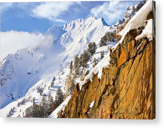 Superior Peak Acrylic Print featuring the photograph Superior Peak In The Utah Wasatch Mountains by Douglas Pulsipher