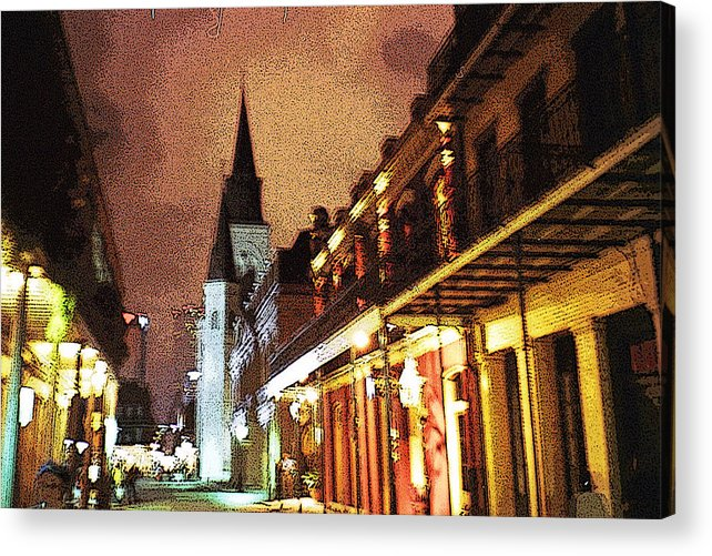 New Orleans Acrylic Print featuring the photograph The Cathedral At Night by Raven Creature
