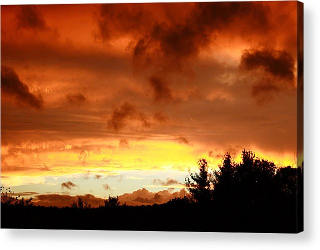 Sunset Acrylic Print featuring the photograph The Red Planet by Carol Hicks