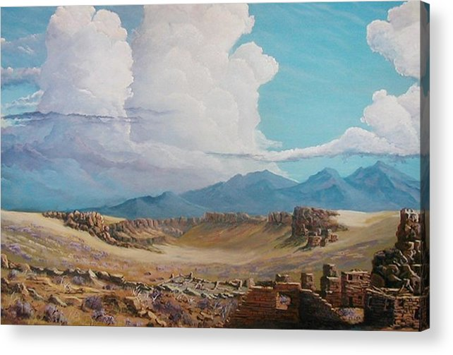 Landscape Acrylic Print featuring the painting Time Stands Still by John Wise